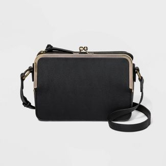 Kisslock Crossbody Bag - Universal Thread™ Black