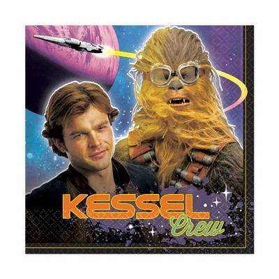 """Amscan Star Wars Han Solo 6.5"""" Lunch Napkins, 16-Pack"""