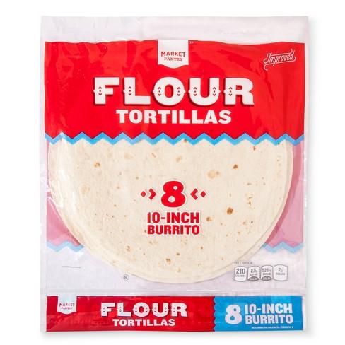 "10"" Flour Tortilla Burrito Size 8ct. - Market Pantry™ - image 1 of 1"
