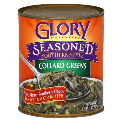 Glory Gluten Free Foods Seasoned Southern Style Collard Greens 27oz