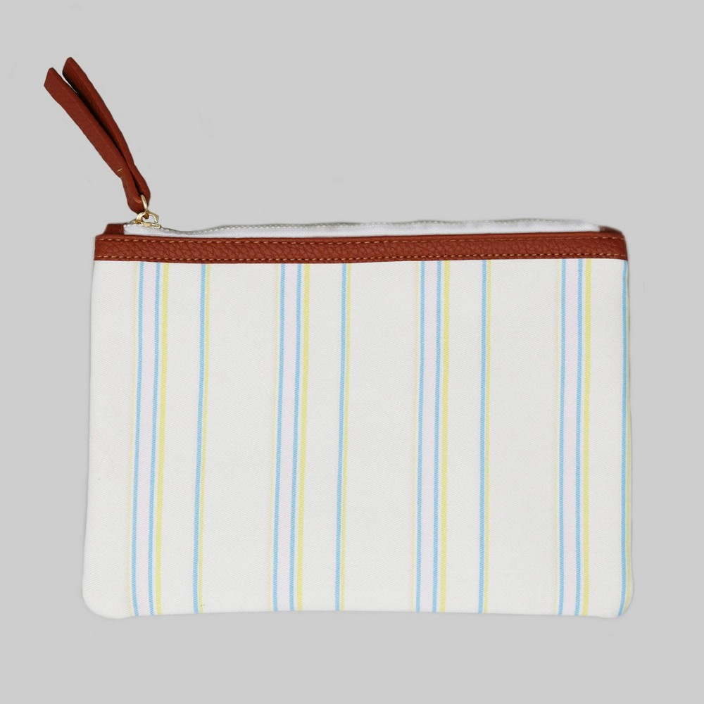 "Image of ""6"""" x 8"""" Zip Linen Pouch - Stripe - Threshold"""
