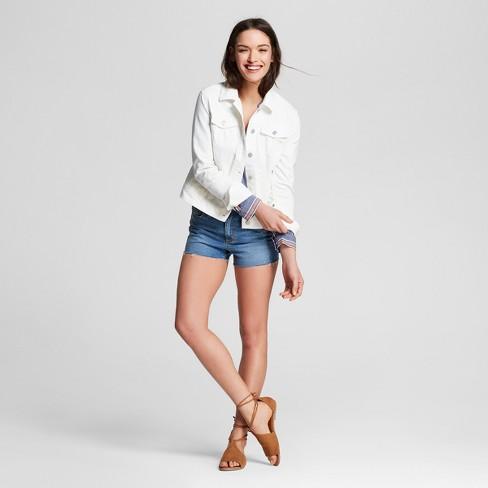 Women S Denim Jacket Universal Thread White Target