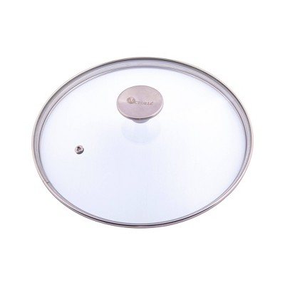 "Victoria Glass Lid with Stainless Steel Knob for 8"" Skillet"