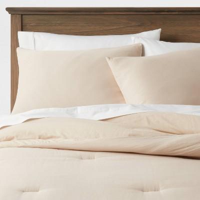 King Washed Cotton Sateen Comforter & Sham Set Khaki - Threshold™