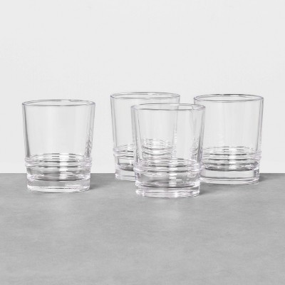 4pk Glass Drinkware Set Short - Hearth & Hand™ with Magnolia