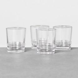4 New Hearth /& Hand Magnolia Clear Glass Juice Tumblers Farmhouse 8 oz 12 avail.