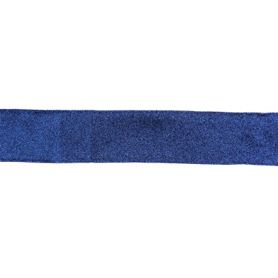 """Northlight Sparkly Blue Solid Christmas Wired Craft Ribbon 2.5"""" x 16 Yards"""