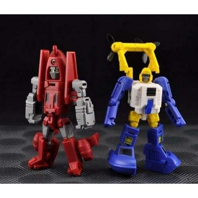 Bomber and Hover Set of 2   MakeToys Microbot Series Action figures