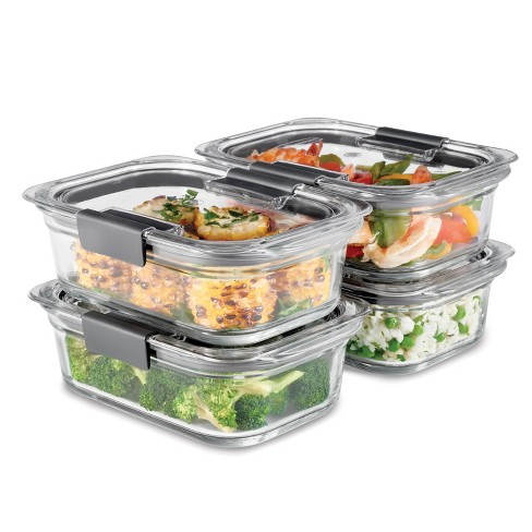 Rubbermaid 8pc Brilliance Glass Food Storage Container Set - image 1 of 4