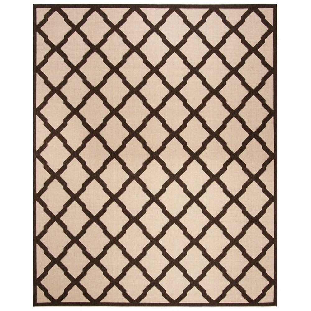 9X12 Geometric Loomed Area Rug Natural/Brown - Safavieh Promos