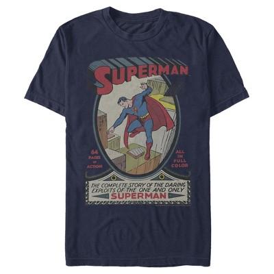 Men's Superman Vintage Daring Exploits Cover T-Shirt