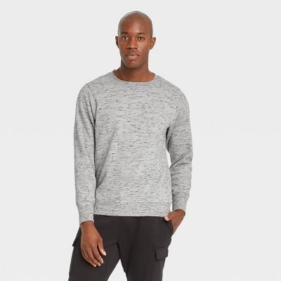 Men's Cotton Fleece Crewneck Sweatshirt - All in Motion™ Medium Heather Gray