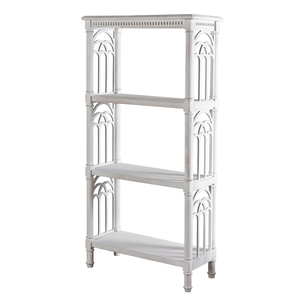 """Image of """"14"""""""" Church St Bookcase Distressed White - StyleCraft"""""""