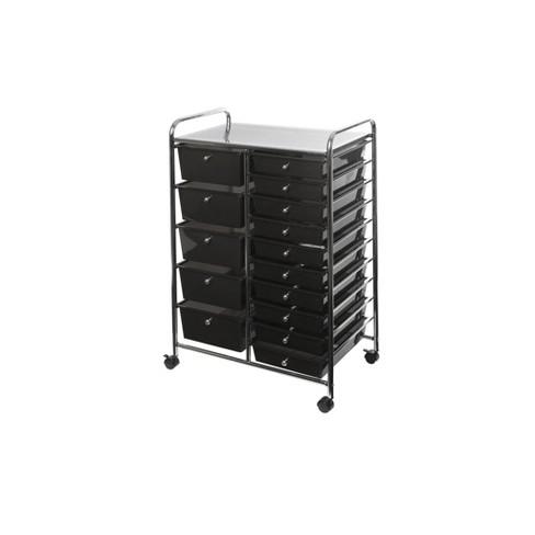 15 Drawer Steel Organizer Wheeled Cart