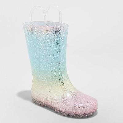 0bcc38f2c643c Toddler Girls  Kalli Glitter Rainboots - Cat   Jack™ Blue