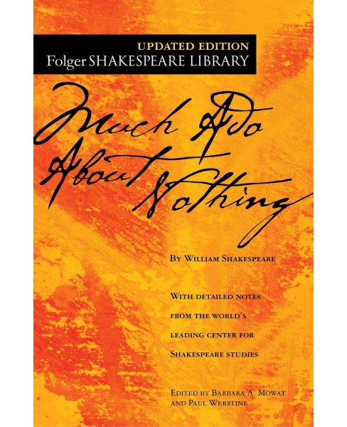 Much Ado About Nothing -  (Folger Shakespeare Library) by William Shakespeare (Paperback) - image 1 of 1