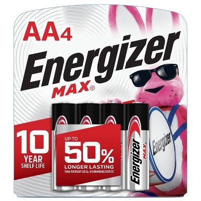 Energizer 4pk MAX Alkaline AA Batteries