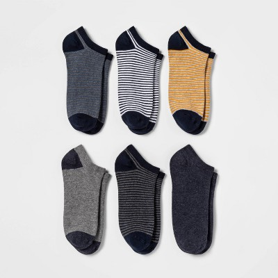 Women's Striped 6pk Low Cut Socks - A New Day™ Assorted Colors 4-10