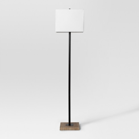 Modern Wood Square Floor Lamp Black Project 62 Target