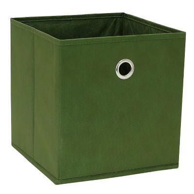 """11"""" Cube Storage Bin Dark Green - Room Essentials™"""