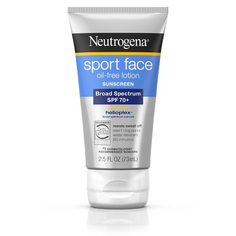 Neutrogena Ultimate Sport Face Oil-Free Sunscreen Lotion - SPF 70+ - 2.5 fl oz - image 1 of 8
