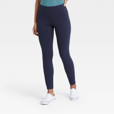 Women's High-Waisted Ankle Length Leggings - A New Day™ Navy