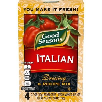 Good Seasons All Natural Italian Salad Dressing & Recipe Mix -0.7oz/4 ct