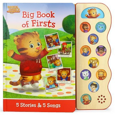 Big Book of Firsts - (Daniel Tiger's Neighborhood Interactive Early Bird Children's Song Book with 10 Sing-Along Tunes) by  Scarlett Wing
