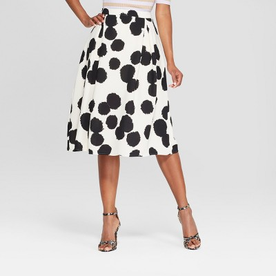 6121229ac Women's Floral Print Birdcage Midi Skirt – Who What Wear™ Black/Red ...