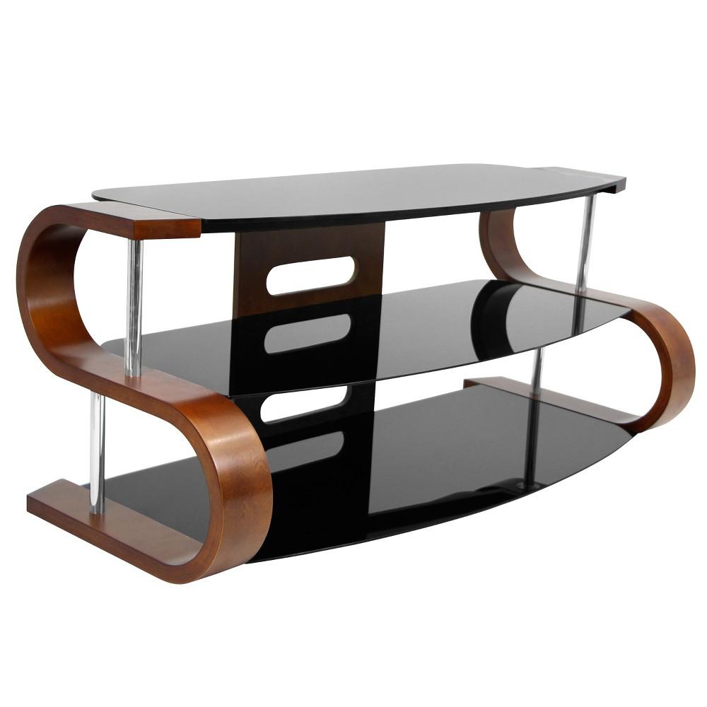 Metro Contemporary TV Stand Birch/Black (Brown/Black) - LumiSource