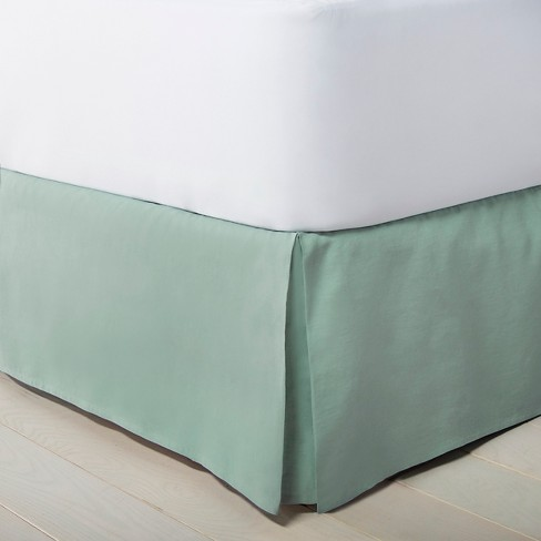 Linen Hem Stitch Bedskirt California King - Green - Fieldcrest™ - image 1 of 1