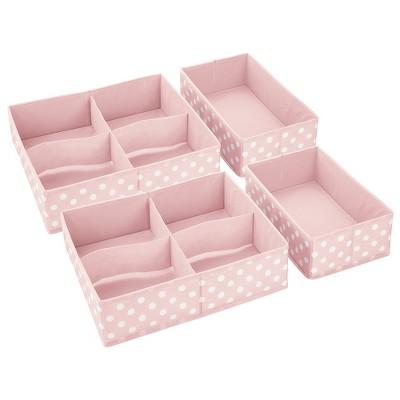 mDesign Kids Fabric Dresser Drawer and Closet Storage Organizer, Set of 4