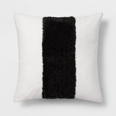 Square Channeled Faux Fur Throw Pillow Cream - Project 62™ + Nate Berkus™