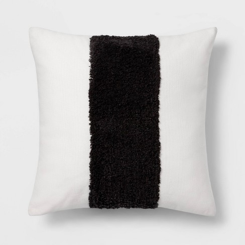 Square Channeled Faux Fur Throw Pillow Cream - Project 62™ + Nate Berkus™ - image 1 of 4