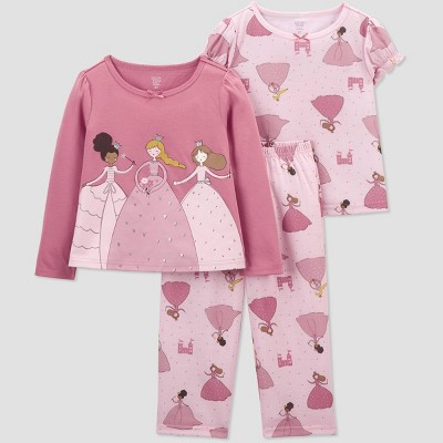 Toddler Girls' 3pc Princess Pajama Set - Just One You® made by carter's Pink