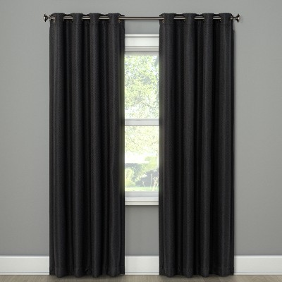 Cornell Curtain Panel Charcoal 84  - Eclipse