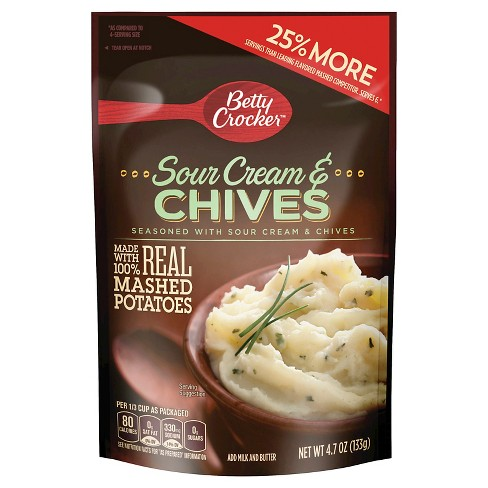 Betty Crocker Mashed Potato Sour Cream Chives Pouch 4.7 oz - image 1 of 1