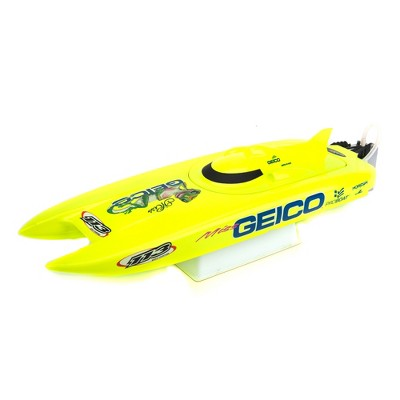 "Pro Boat Miss Geico RC Boat 17"" Brushed Catamaran RTR (Includes controller, transmitter, battery and charger), PRB08019"