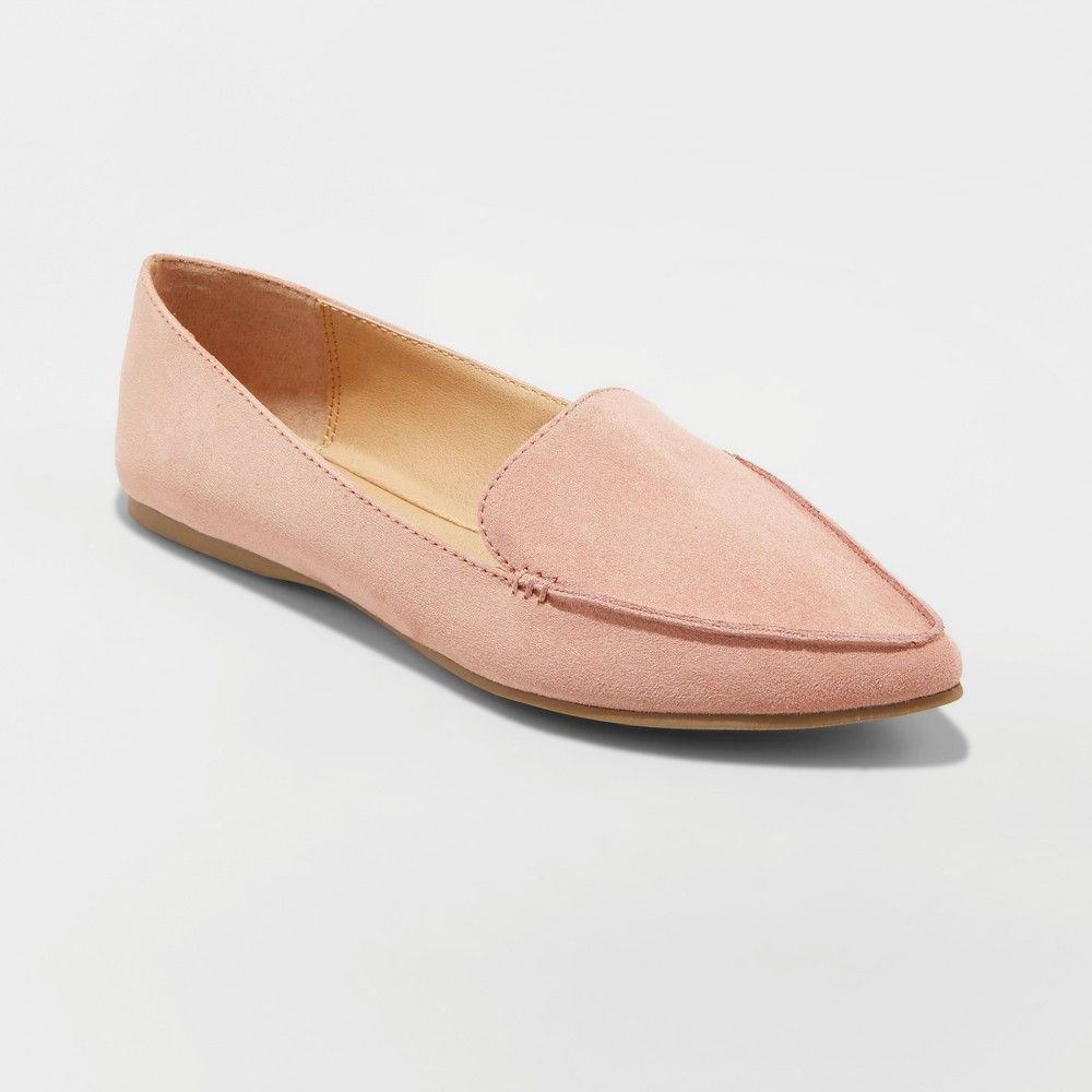 Women's Micah Pointed Toe Closed Loafers - A New Day Blush 6
