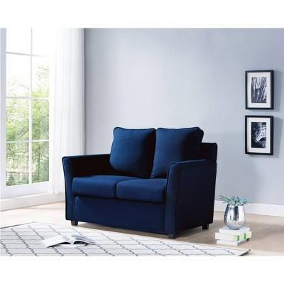 Ali Upholstered Loveseat Dark Shadow Blue - HOMES: Inside + Out