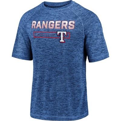 MLB Texas Rangers Men's Short Sleeve Striated Athleisure T-Shirt