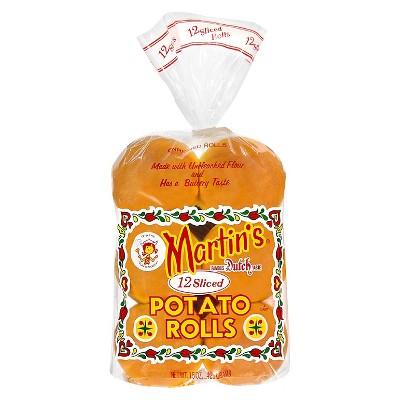Martin's Potato Sliced Rolls -15oz/12ct
