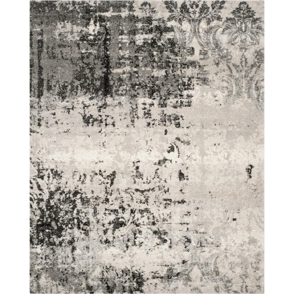 Shapes Loomed Area Rug Gray