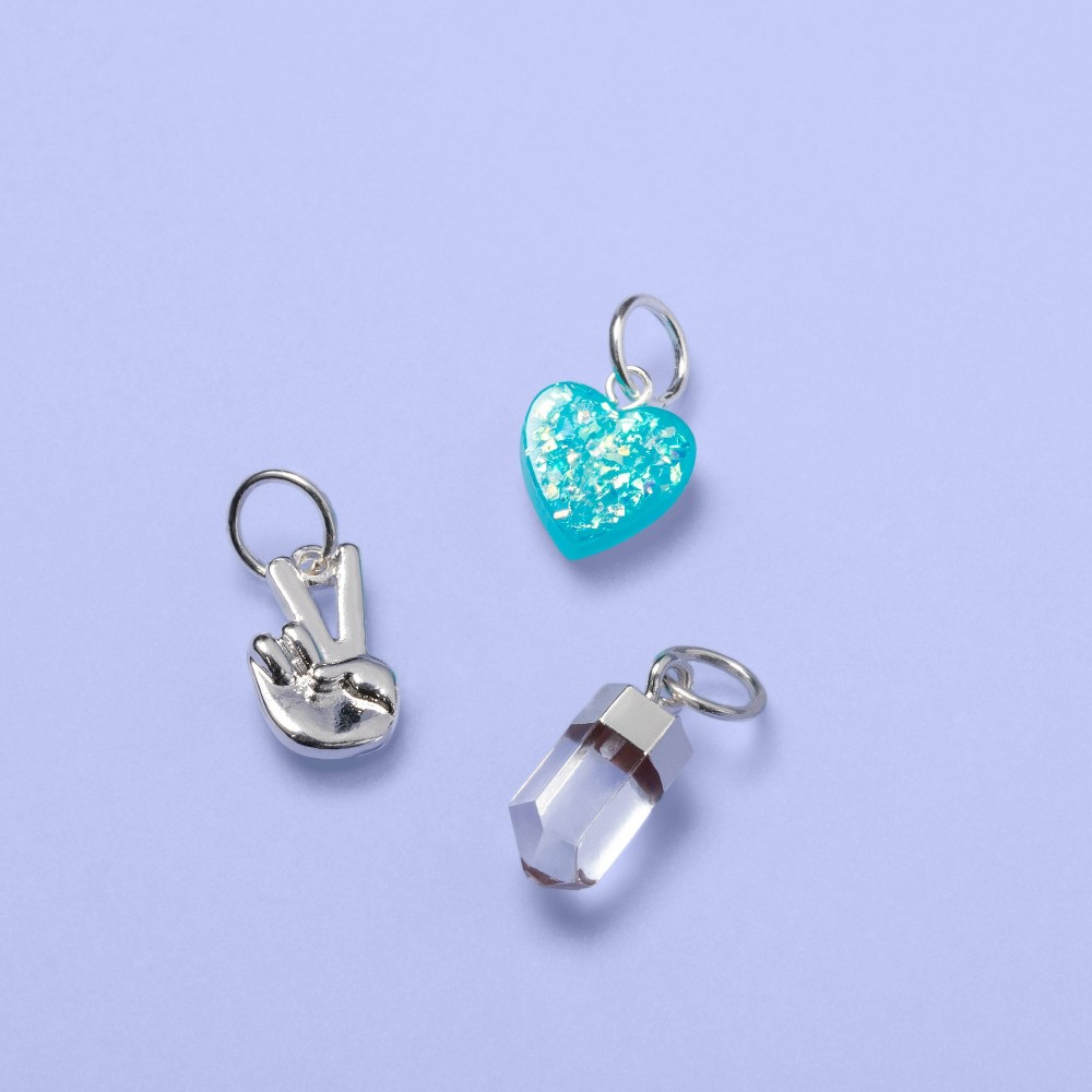 Image of Girls' 3pk Assorted Charm Set - More Than Magic , Girl's, Silver