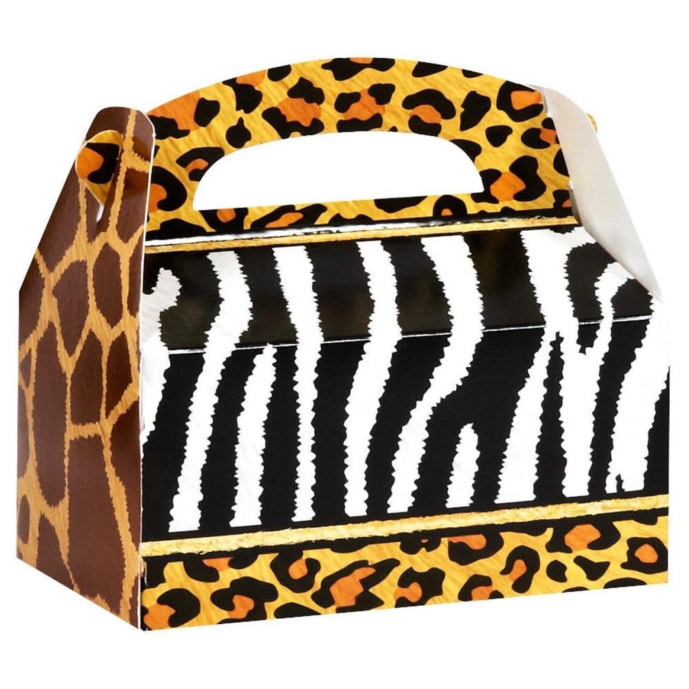 8 ct Safari Animal Adventure Favor Boxes, Multi-Colored