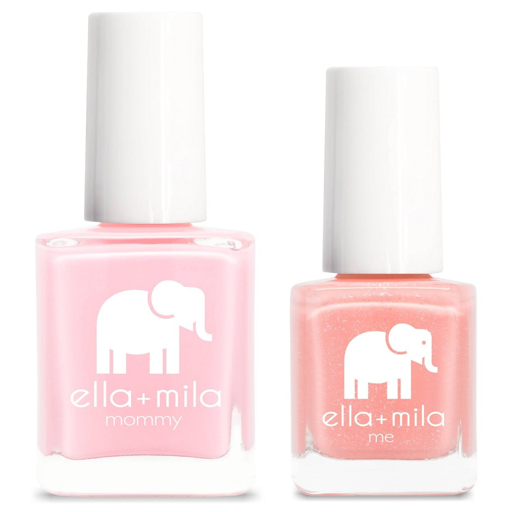 Image of ella+mila Mommy&Me Nail Polish Set So in Love + Cotton Candy - 0.69 fl oz