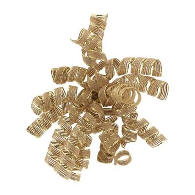 Fabric Gold Edge Curl Swirl Natural Brown - Spritz™