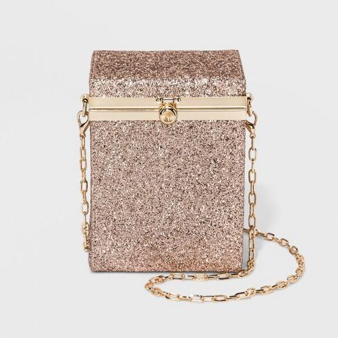 Box Minaure Clutch Crossbody Bag A New Day Rose Gold