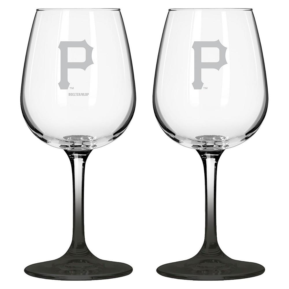 MLB Boelter Brands 2 Pk Wine Glass Set - 12 oz - Pittsburgh Pirates