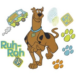 Scooby Doo Prints Self-Stick Wall Accent Stickers Set - Scooby-Doo..